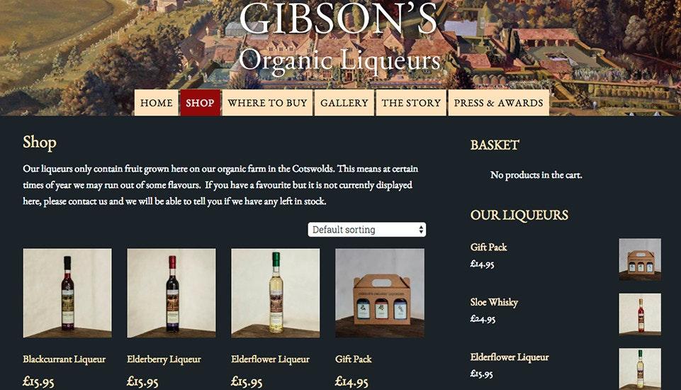 Gibsons Organic Liqueurs
